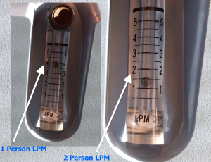 image depicts the best liter per minute flow settings for an O2 concentrator